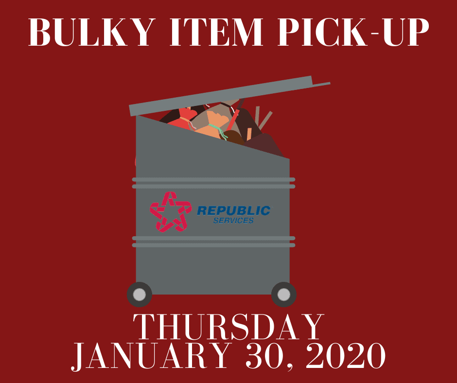 January 2020: Bulky Item Pickup