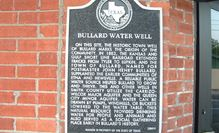 Bullard water well historic sign