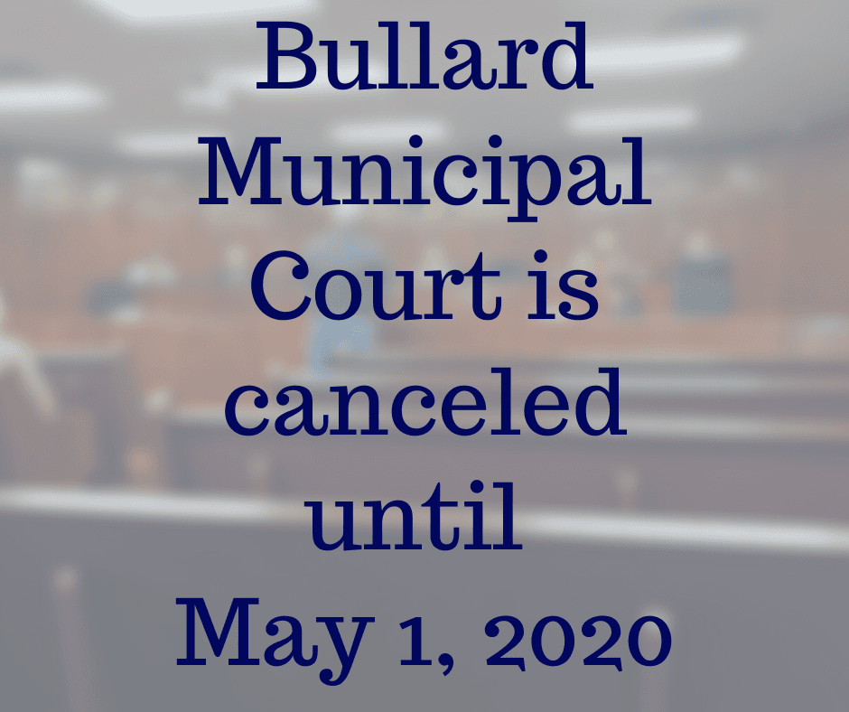 Court Canceled until May 1, 2020