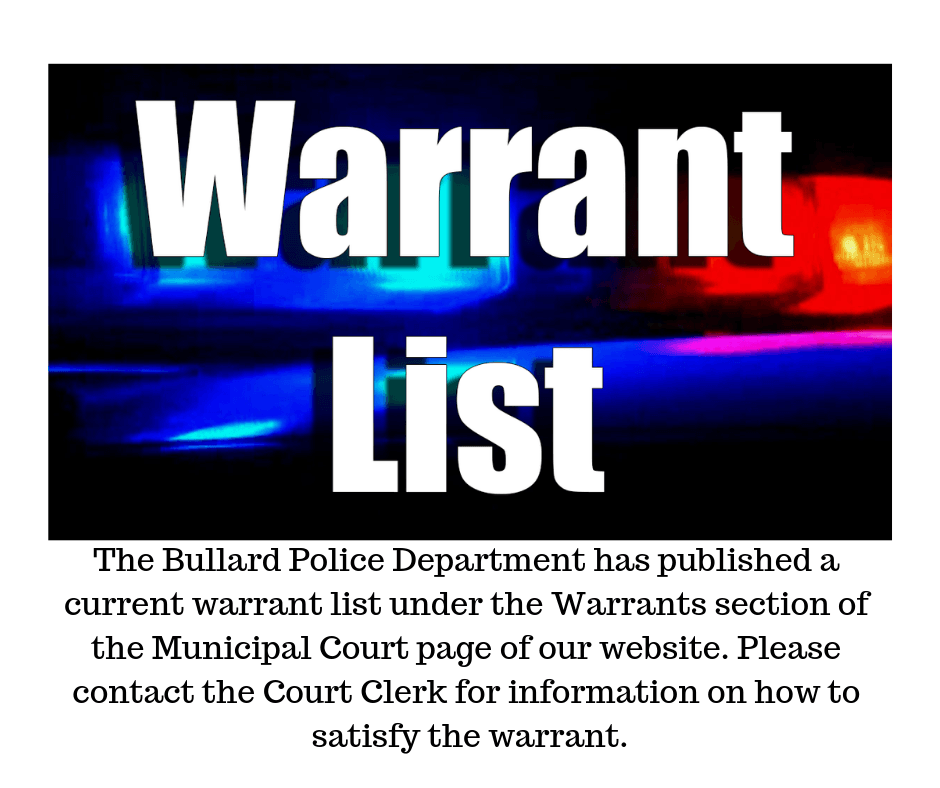 published warrant list 10-15-18 Opens in new window